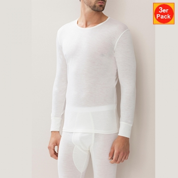 T Shirt Long 3er Pack Wool & Silk Zimmerli (ZIws71014513er)